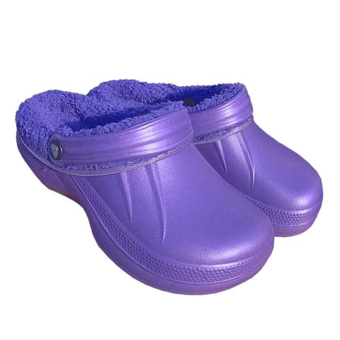 Šľapky KROXY KLASIK dámske zateplené fialové f64d0071273