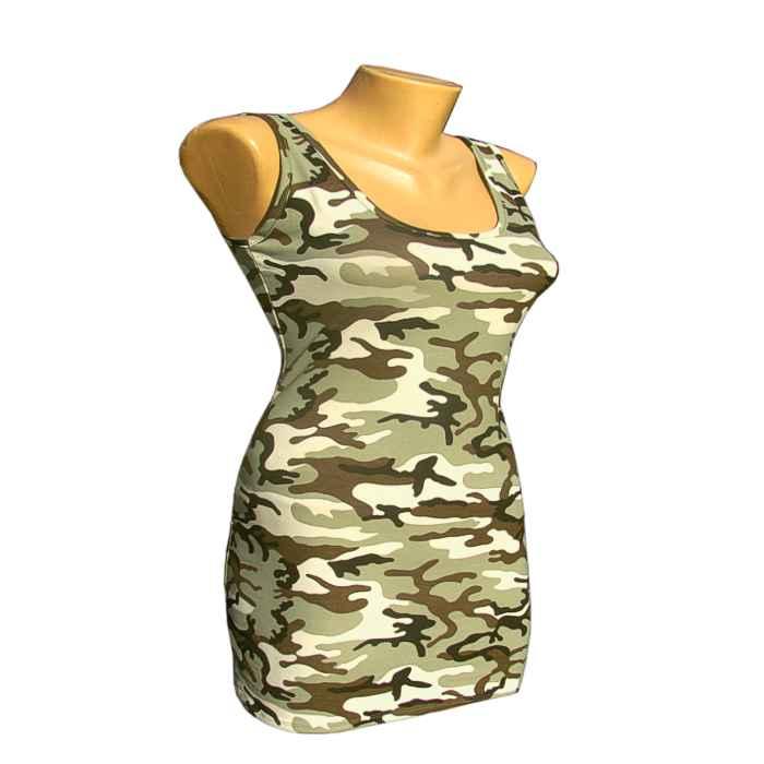 591e12f1b00b Tielko dámske maskáčové Predĺžené – mini šaty MODA - TifanTEX odevy