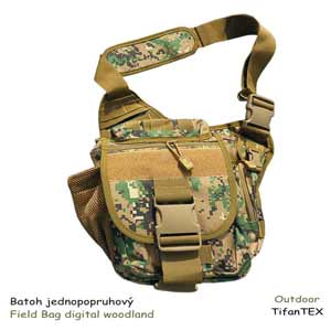 Batoh jednopopruhový Field Bag digital woodland