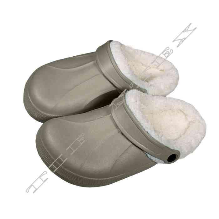 Šlapky KROXY dámske zateplené šedé - outdoor obuv 65dc47f0060