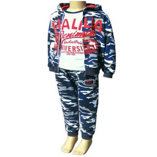 3f3d7ab23144 Súprava tepláková detská maskáčová s tričkom Italia modrá empty